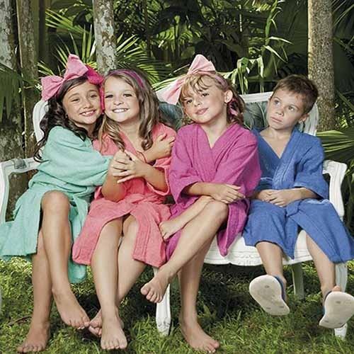 Roupão Felpudo Infantil Atlântica - 8 anos