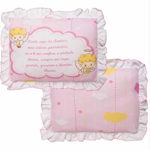 Travesseiro Incomfral - Anjo da Guarda Rosa